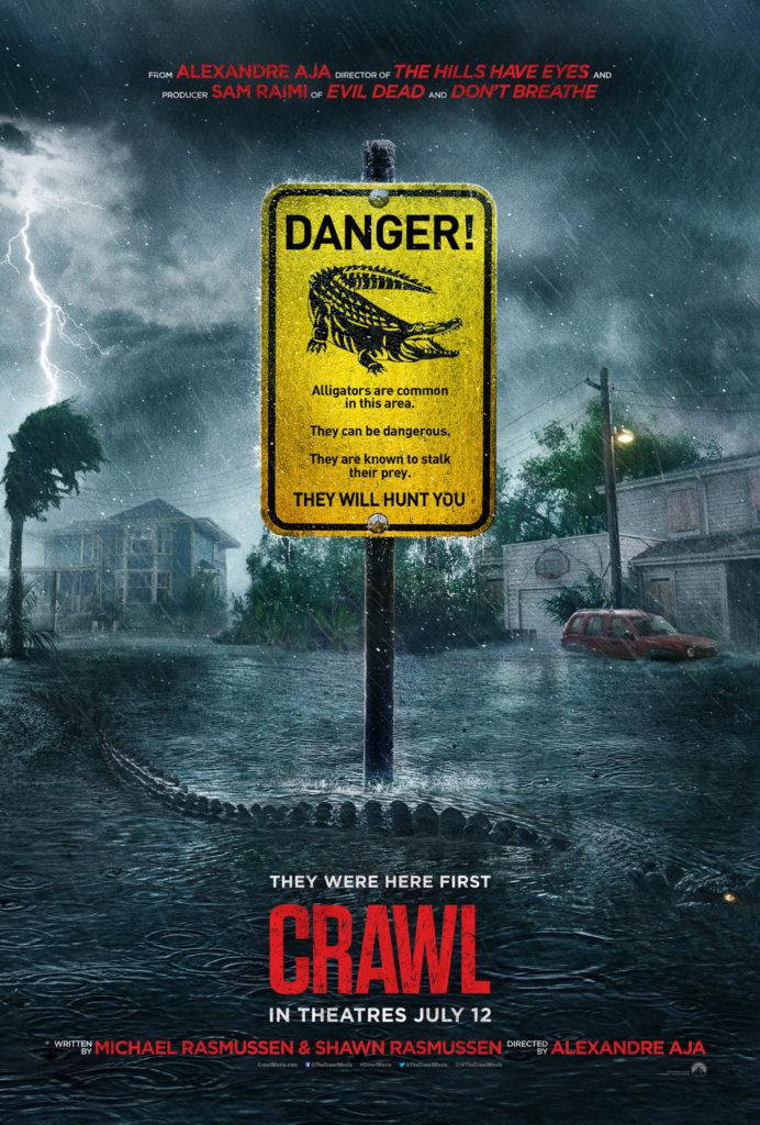 Affiche Crawl critique film d'horreur 2019